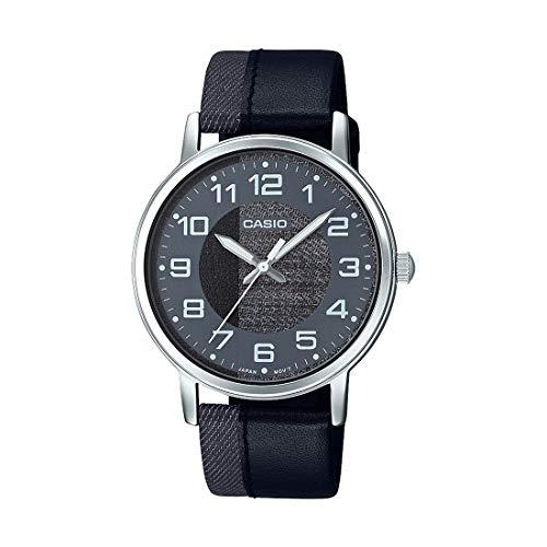 Casio Mtp-e159l-1bdf Reloj Analógico para Hombre Caja De Metal Esfera Color Negro