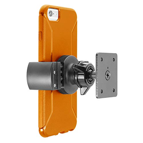iBOLT Roadvise XL AMPS Heavy Duty Metal Drill Base AMPS Mount for Smartphones, Midsize Tablets from 2.75 inches to 5 inches Wide- Great for Trucks, Wall mounting, Commercial Vehicles