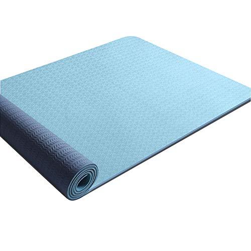 Chao Esterilla Yoga,8MM Antideslizante Exercise Mat con Bolsa de Transporte y Correa,Ecológica Colchoneta de Yoga para Pilates Fitness Gimnasio Ejercicio Meditación Cámping