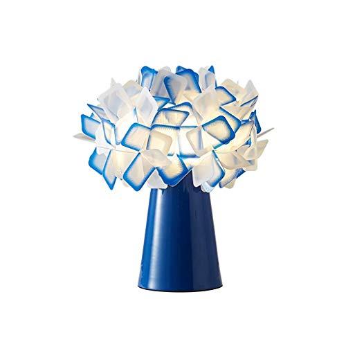 FMOGE Bedside Table Lamp Blue 11' Tree Lights Bonsai Lighted Tabletop Bedroom Warm Bedside Lamp Creative Flower-Shaped Decoration Wedding - Home Decor Artificial Plants Light Desk Lamps for Bedroom
