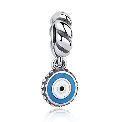LILIANG Charm Jewelry Auténtico Encanto De Plata De Ley 925 Esmalte Azul Lucky Eye Bead Fit Original Charm Bracelet DIY Jewelry Making