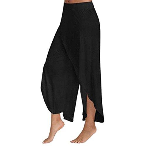 Falda Pantalon Mujer Elegantes Pantalones Verano Chiffon Pantalones Palazzo Pantalones Yoga Mujer Color Sólido Abiertas Anchos Fashion Basicas Pantalones De Tiempo Libre Disfraz