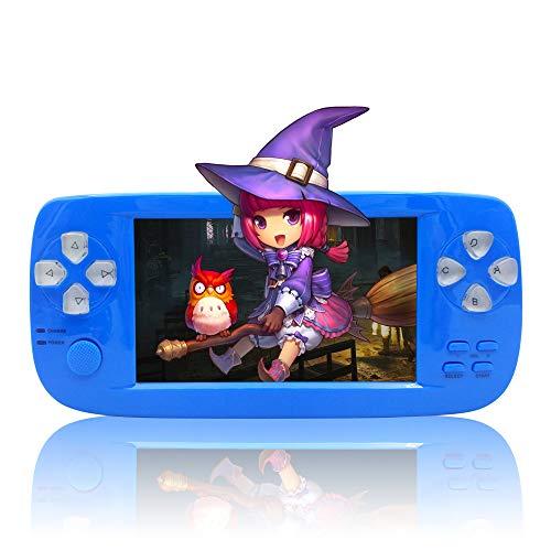 BAORUITENG Handheld Game Console, Portable Video Game Console 4.3 Inch 3000 Classic Retro Game Console Pap-KIII , Support GBA / GBC / GB / SEGA / NES / SFC / NEOGEO (Blue)