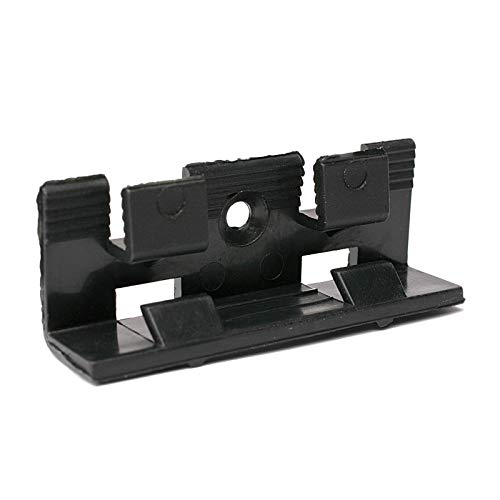 Befestigungsclips für Höhe 40mm und 60mm MDF Sockelleisten   unsichtbare Befestigung und Kabelverlegung möglich   25 Stück Clips inkl. Zubehör