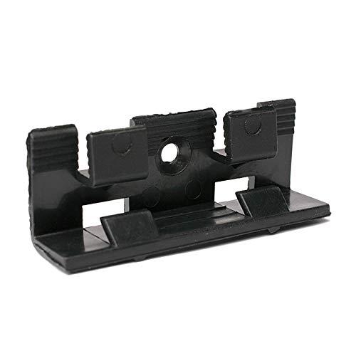 Befestigungsclips für MDF-Sockelleisten mit 40mm und 60mm Höhe