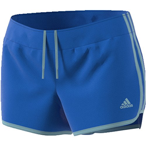 adidas Women's Running M10 Shorts 3' Inseam, Hi-Res Blue/Ash Grey, XX-Small