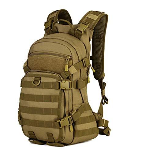 Selighting Taktischer Rucksack Wasserdicht Militär Rucksack Molle Fahrradrucksack 25L für Fahrrad Wandern Camping (Braun)