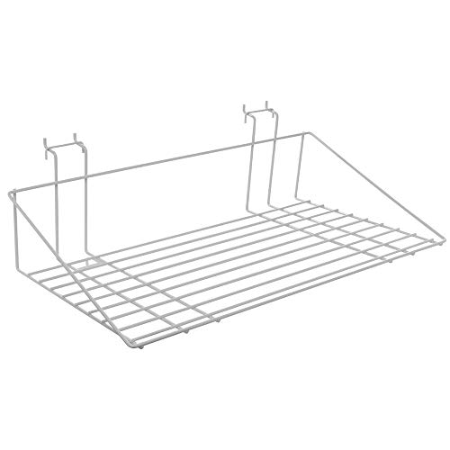 Gridwall Shelves White Wire 23 1/2 x 13 1/2 x 6
