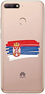ZOKKO Case for Huawei Y6 Prime 2018 - Serbian Flag Design