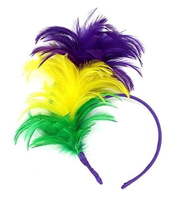 FELIZHOUSE 1920s Fascinator Feathers Headband for Women Kentucky Derby Wedding Tea Party Headwear Girls Flapper Headpiece