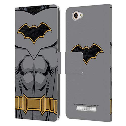 Head Hülle Designs Offizielle Batman DC Comics Wiedergeburt Kostuem Logos Leder Brieftaschen Huelle kompatibel mit Wileyfox Spark X