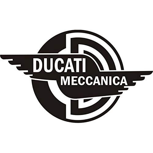 myrockshirt Motorradaufkleber Ducati MECCANICA BOL Logo ca.15 cm Aufkleber Sticker Decal Profi-Qualität ohne Hintergrund Bike Tuning