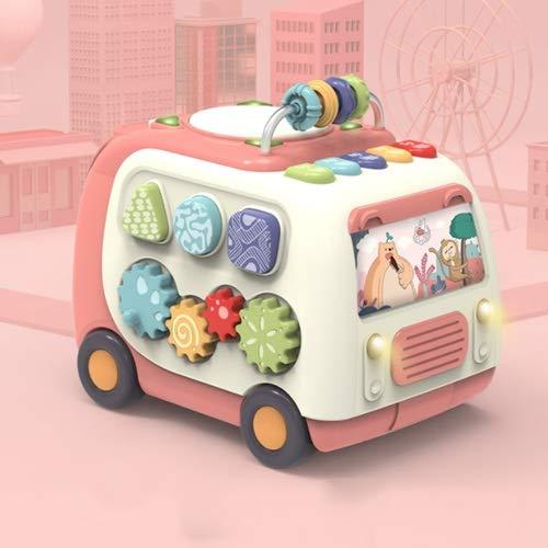 Lihgfw Baby-Musik, Hand-Pat-Trommel, Kinder-Pat-Trommelaufladung, frühe Bildung Pädagogisches Babyspielzeug for Kinder eignet Sich for Kinder über 1 Jahr (Color : Rosa)