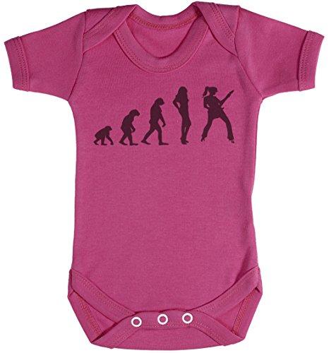 Baby Buddha Evolution to A Rockstar Girl Body bébé - Gilet bébé - Naissance Rose