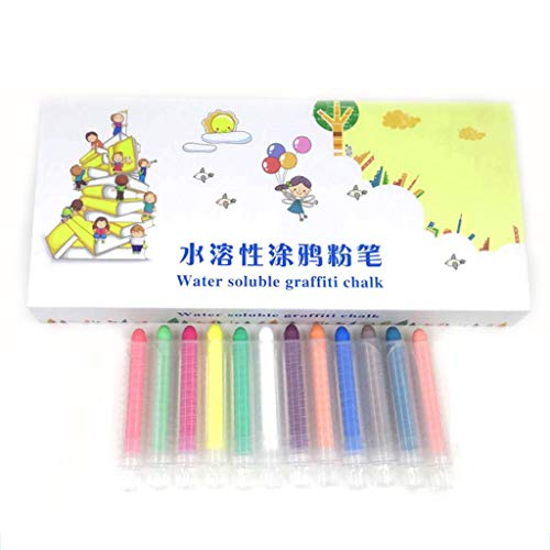 Cheapest Prices! Solid Water Chalk - 12PCS Dustless Twistable Chalk Non-Toxic Colored Chalk Water So...