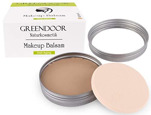 Greendoor Makeup Balsam Anti Aging 25g - Farbe: 002 biscuit, pflegender CC Balsam, Kompakt Make-up Balsam nach Art einer CC Creme, Naturkosmetik
