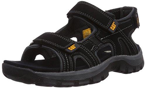 Cat Footwear Giles, Sandali a Punta Aperta Uomo, Nero (Nero Black), 43 EU