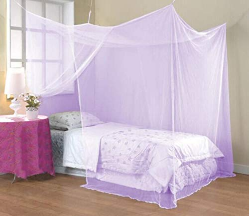 Ltong Elegant square polyester Mosquito Net Insect home Bed Net mosquito curtain,Light purple,180x200x200cm