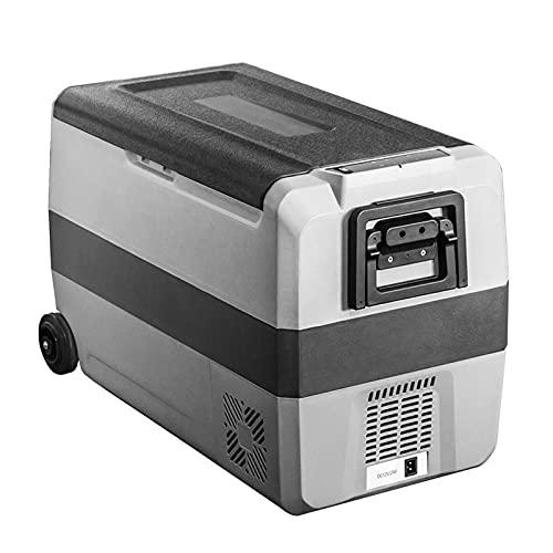 Bewinch Nevera Refrigerador Portátil para Automóviles De 50L, Congelador para Camping con Zona De Almacenamiento Dual, -4 ℉ ~ 50 ℉, Frigorífico Congelador DC 12 / 24V, Puerto USB