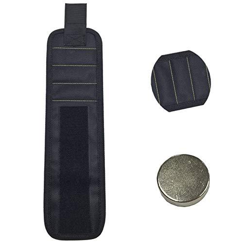 Elibeauty Magnetisches Armband, magnetisches Werkzeug-Armband mit 15 leistungsstarken Magneten, Werkzeuggürtel für Heimwerker, Männer, Frauen