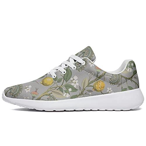 Zapatillas de deporte para hombre y mujer, con estampado de limón, vegetal, con cojín de aire, para correr, caminar, entrenar, etc., color, talla 47 EU