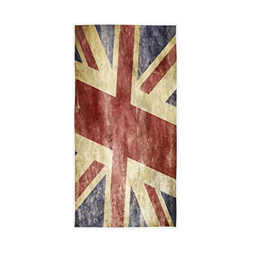 Mnsruu Union Jack Britische Flagge Vintage London England Soft Bad Hotel Spa Hand Gym Sport Handtuch 76 x 38 cm