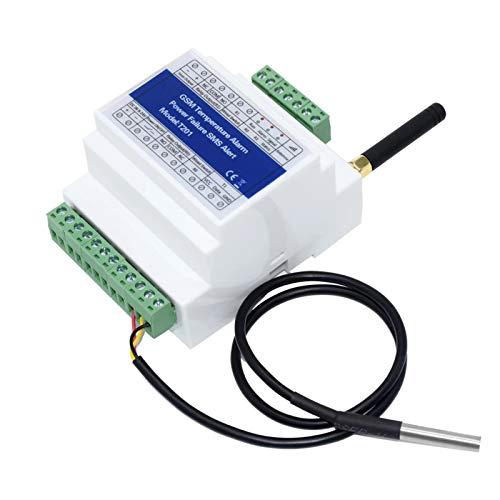 OWSOO Interruptor de Relé Remoto gsm Controlador de Acceso T201 Alarma de Temperatura gsm 2G / 3G / 4G Monitoreo del Estado de Energía Fallo de Energía Alarma SMS Sensor de Temperatura