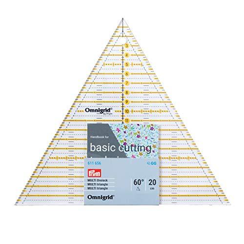 Prym Patchwork Dreieck 60 Grad Multi 20 cm Omnigrid Lineal, Kunststoff, transparent