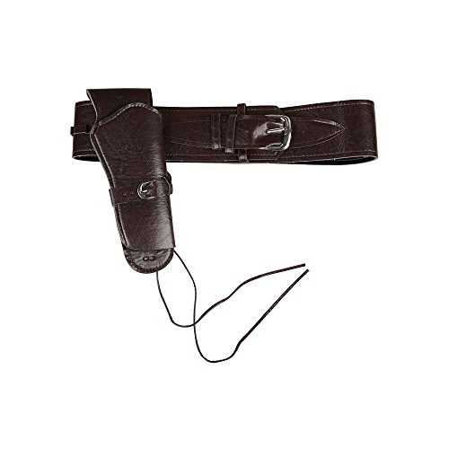 Deluxe Cowboy Holster Black for Fancy dress Accessory