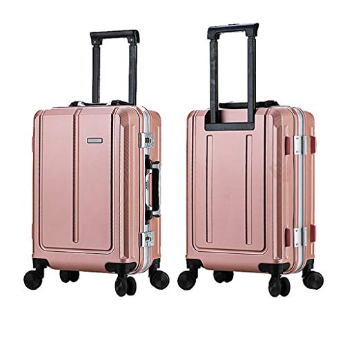 LLRDIAN Suitcase Trolley Carry On Hand Cabin Luggage Hard Shell Travel Bag Lightweight Durable 4 Spinner Wheels (Color : Pink, Size : 34×23×49cm)