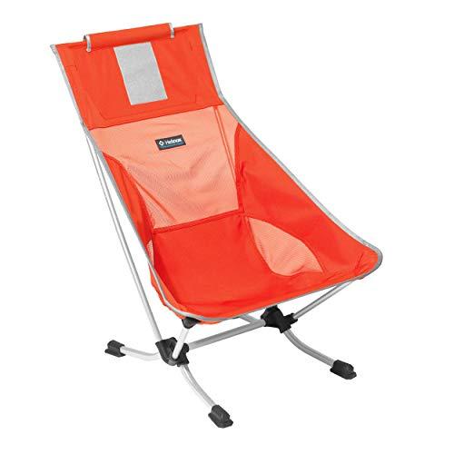 Helinox Beach Chair,Strandstuhl,Campingstuhl,Aluminium,leicht,stabil,faltbar,inkl Tragetasche,Crimson,one Size