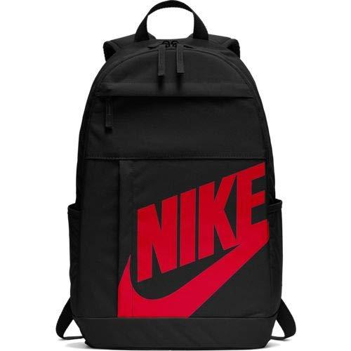 Nike NK ELMNTL BKPK - 2.0 Sports Backpack, Black/University Red, 45 cm
