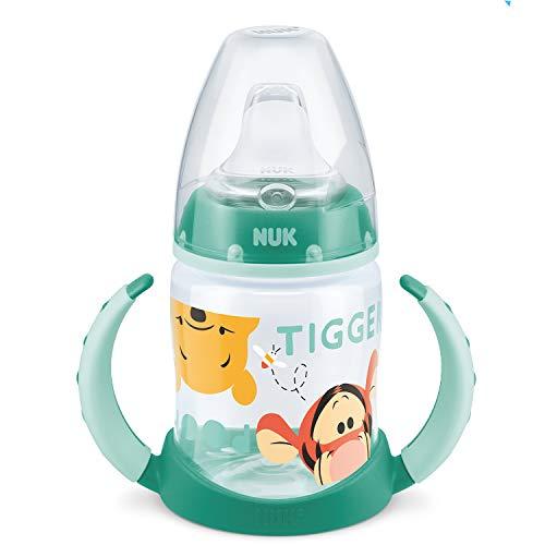 NUK Disney Winnie First Choice Trinklernflasche aus PP 150ml, mit Soft-Trinktülle aus Silikon, BPA frei, ab 6 Monate, grün