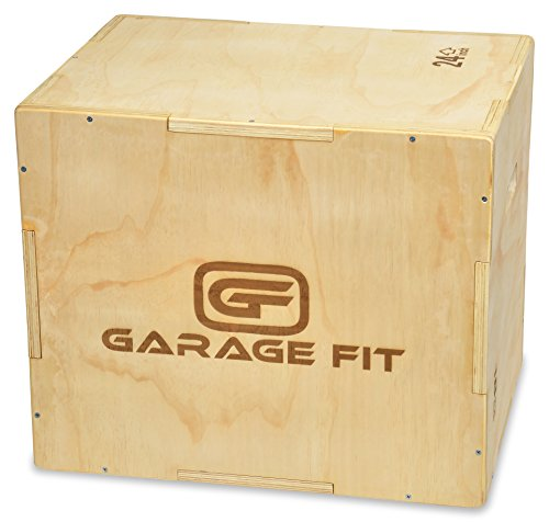 Garage Fit Wood Plyo Box - 18/20/24 inch 3 in 1 Plyo-Box, Plyometric Box, Plyometric Jump Box,...