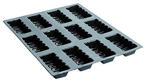 Lingots cannelés professionnels 400 x 300 mm, à 12 Empreintes L 106 x lg 46 x H 25 mm