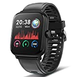 TagoBee Smart watch Fitness Tracker IP67 Waterproof 1.54'' IPS Full Touch Screen Smartwatch with Heart Rate,Sleep Tracking,Steps Counter,Call SMS SNS Reminder Activity Tracker for Android iOS Black