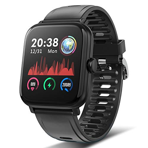 TagoBee Smartwatch Orologio Fitness Uomo Donna, TB16 Fitness Tracker Bluetooth Smart Watch con Impermeabile IP67 Cardiofrequenzimetro da Polso Orologio Sportivo Activity Tracker per Android iOS