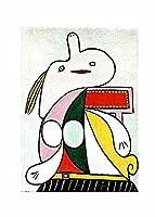 パブロ・ピカソアートポスター 絵画 インテリア おしゃれ 壁飾り キャンバスウォールアート モダンアート 部屋飾り 写真 壁 に 飾る インテリア(25x35cm10x14inch、フレームなし)の黄色いベルト