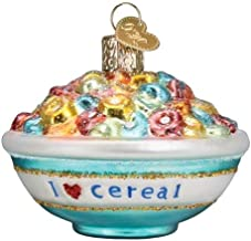 Old World Christmas Ornaments Bowl of Cereal Glass Blown Ornaments for Christmas Tree