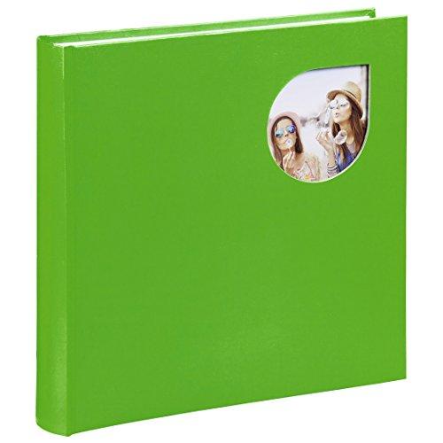 Preisvergleich Produktbild Hama Jumbo Fotobuch mit Bildausschnitt,  30x30cm Cumbia,  quadratisches Fotoalbum zum Einkleben,  80 weiße Seiten / 40 Blatt,  für 320 Fotos in 10x15,  Pergamin-Trennblätter,  Bilder-Album grün