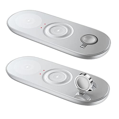 Cargador Inalámbrico Magnético 15w, Qi 3 En 1 Cargador De Cargador Inalámbrico Rápido para iPhone 12 / 11pro / MAX Wireless Care para Magsafe Iwatch/Airpods Cargo Rápido