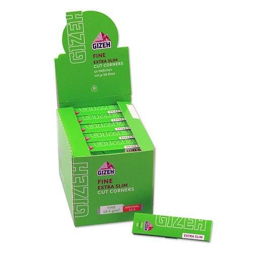 Zigarettenpapier Gizeh Fine Extra Slim 50 Heftchen à 66 Blättchen