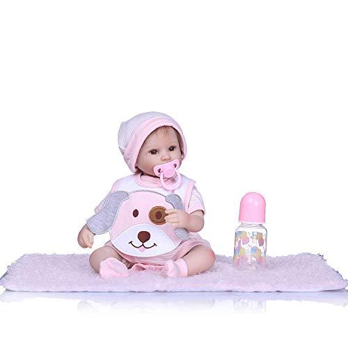 CAheadY Lebensechte Simulation Neugeborenes Baby Vinyl Silikon Reborn Puppe Schlaf Spielzeug Geschenk