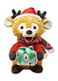 Cuddle Barn - Gifting Gabriel | Animated Singing, Talking, Moving Christmas Holiday Reindeer Stuffed Animal Plush Toy with Glowing Gift Box, Sings Jingle Bells, 12 Inches