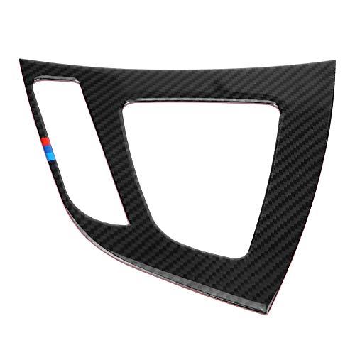 KSTE Carbon-Faser-Auto Schaltknauf Panel-Abdeckung Trim Compatible with B-M-W F20 F21 2012-2015 Aufkleber (#A)