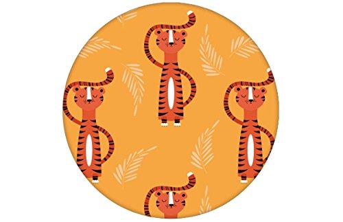 motivierende Kinder Jugend Tapete mit lustigem Sieger Tiger, gelb angepasst an Ikea Wandfarben- Vlies Tapete Tiere, Kinderzimmer Wanddeko GMM Wandtapete als Wohnakzent (H: 2,6m B: 46,5cm)