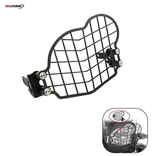 GUAIMI Scheinwerferschutz Edelstahl Lampenschutzgitter Scheinwerferschutzgitter mit Schnellverschluss Kompatibel mit B-M-W G650GS / G650GS Sertao, schwarz