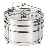 Cesta de vapor, olla de acero inoxidable de 3 niveles, accesorios de olla de cocina de vapor compatible con olla a presión de 5 l
