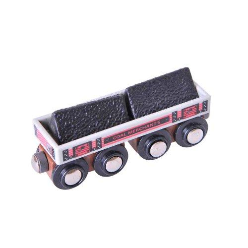 Bigjigs Rail Longs Wagons de Charbon