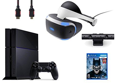 PlayStation VR Bundle 4 Items:VR Headset,Playstation Camera,PlayStation 4,VR Game Disc Batman Arkham VR